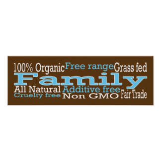 Organic Family Poster