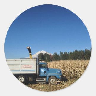 Organic Farm Harvest Classic Round Sticker