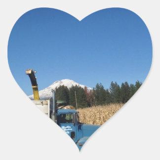 Organic Farm Harvest Heart Sticker