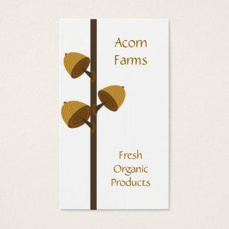 Organic Farm with Acorn Business Card