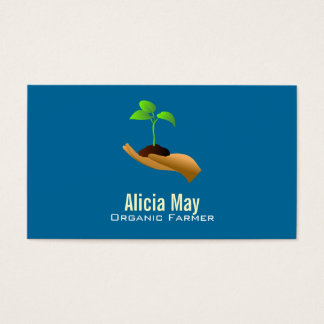 Organic Farmer Business Cards -Color changeable