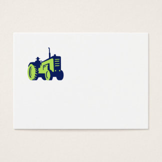 Organic Farmer Driving Vintage Farm Tractor Business Card