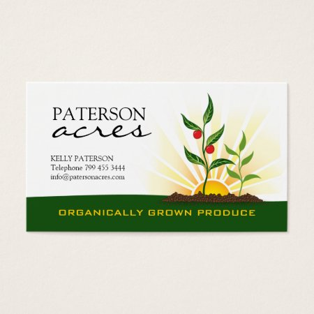 Organically Grown Produce Business Cards