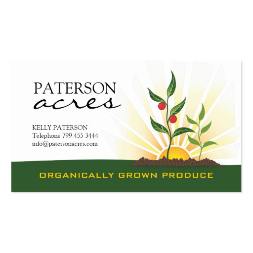 Organic Farmers Business Card