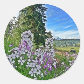 organic farming classic round sticker