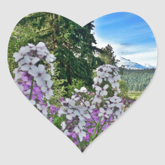 organic farming heart sticker