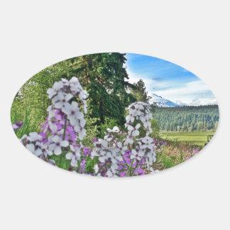 organic farming oval sticker