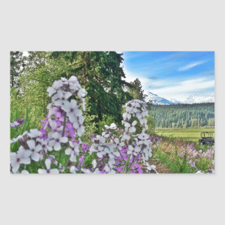 organic farming rectangular sticker