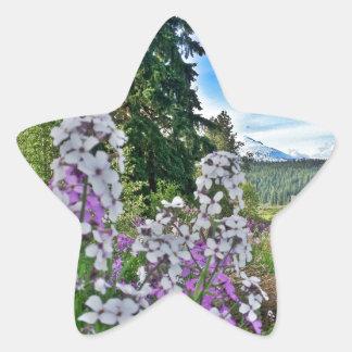 organic farming star sticker