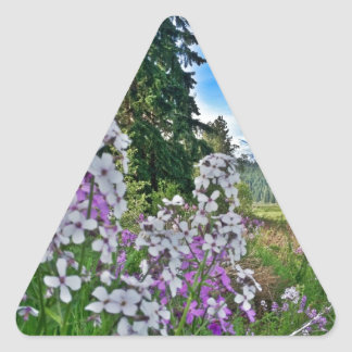 organic farming triangle sticker