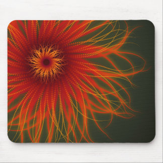Organic Fire Flower mousepad