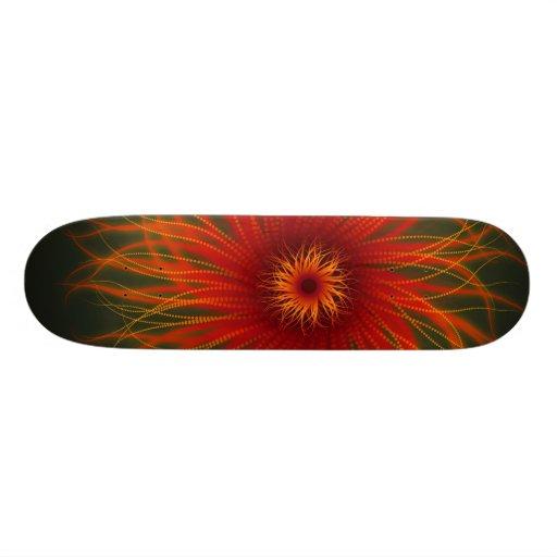 Organic Fire Flower Skateboard Deck