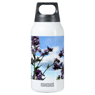 organic flowers insulated water bottle