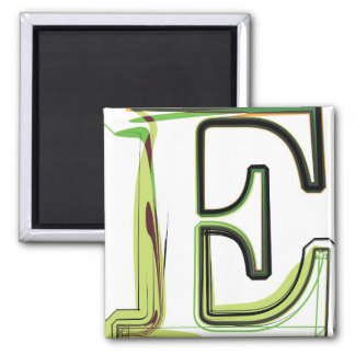 Organic Font illustration 2 Inch Square Magnet