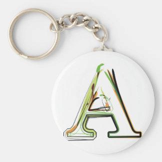 Organic Font illustration Basic Round Button Keychain