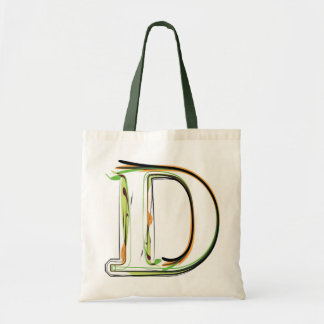Organic Font illustration Budget Tote Bag