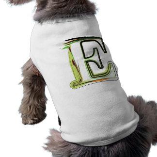 Organic Font illustration Dog Tee Shirt