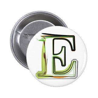 Organic Font illustration Pinback Button