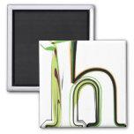 Organic Font illustration Refrigerator Magnets