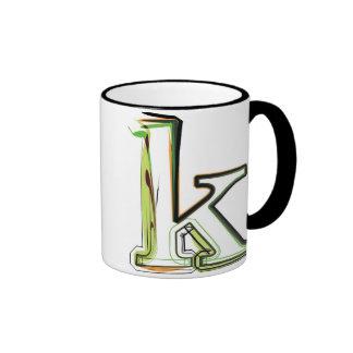 Organic Font illustration Ringer Coffee Mug