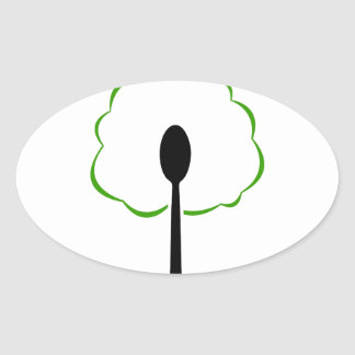 organic food5.jpg oval sticker