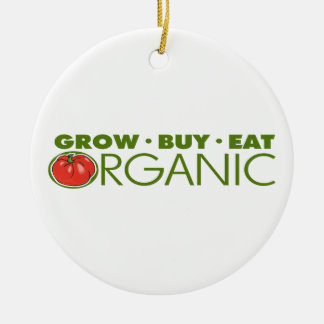 Organic Food Double-Sided Ceramic Round Christmas Ornament