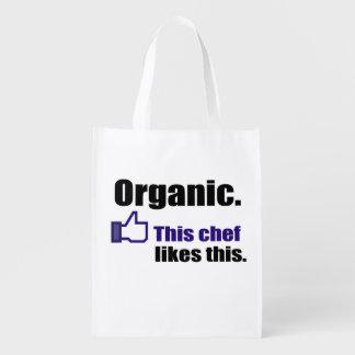 Organic Food Reusable Grocery Bag