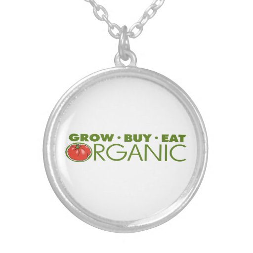 Organic Food Round Pendant Necklace