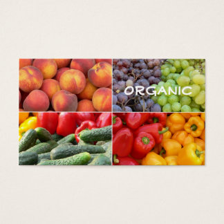 Organic Food Store Business Card