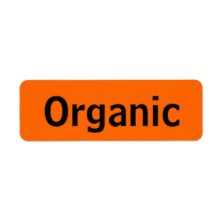 Organic Food Tags Orange Label
