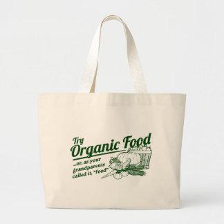"""Organic Food - your grandparents called it """"food"""" Jumbo Tote Bag"""