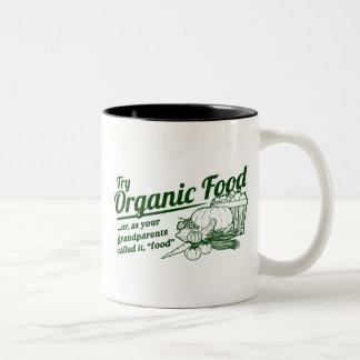 "Organic Food - your grandparents called it ""food"" Two-Tone Coffee Mug"