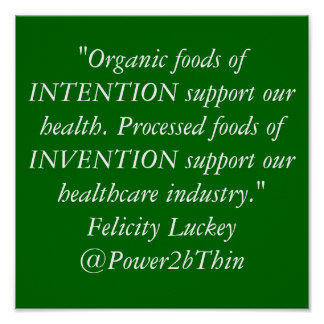 Organic Foods vs. Processed Foods Poster