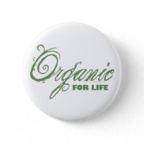 Organic for Life Sustainable Environmental Eco Button