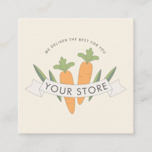 Local produce business cards zazzle organic fresh food delivery service square business card m4hsunfo