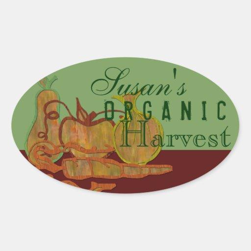 Organic garden stickers