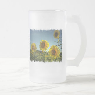 Organic Garden Sunflower Frosted Mug