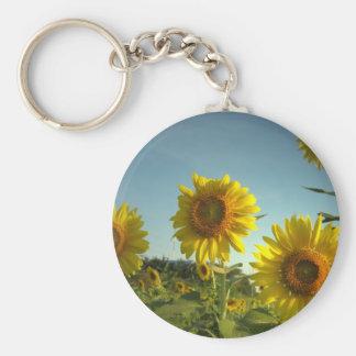 Organic Garden Sunflower Keychain