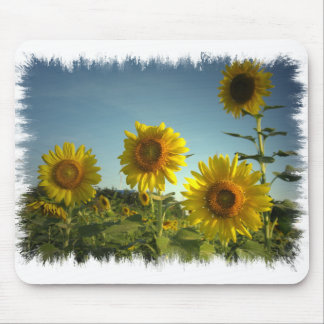 Organic Garden Sunflower Mouse Pad