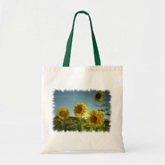 Organic Garden Sunflower Tote Bag