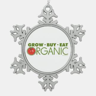 Organic Gardening Snowflake Pewter Christmas Ornament