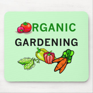 Organic Gardening T-shirts and Gifts Mouse Pad