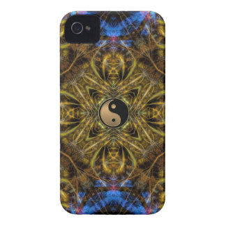 Organic Gold Yin Yang Fractal Art iPhone 4 Case-Ma iPhone 4 Case