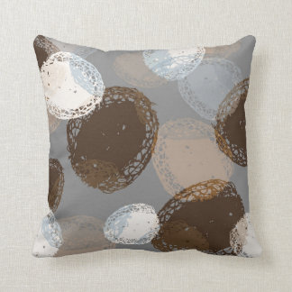 Organic Graphic Lacy Natural Shapes Neutral Pillows