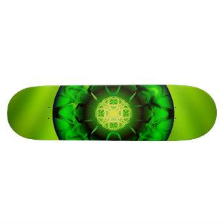 Organic Green Mandala Skateboard Deck