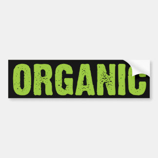 ORGANIC Green on Black Car Bumper Sticker