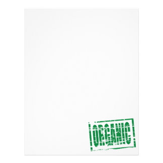 Organic green rubber stamp effect letterhead