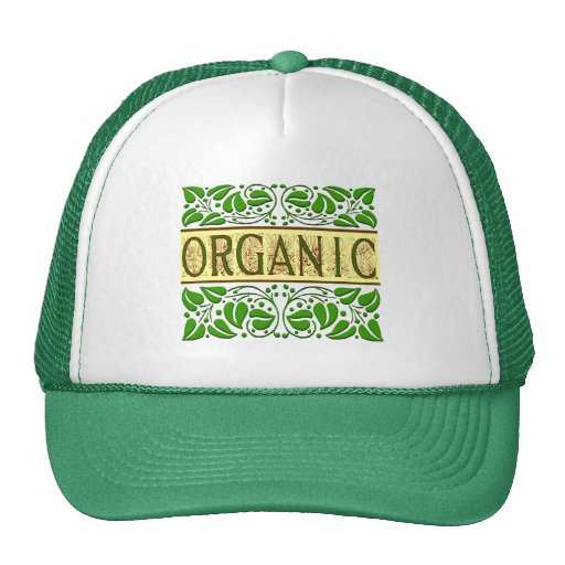 Organic Green Slogan Trucker Hat