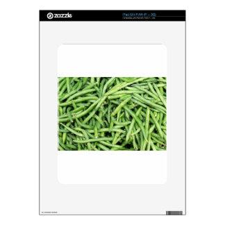Organic Green Snap Beans Veggie Vegitarian Decals For The iPad