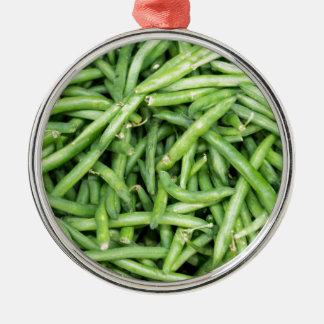 Organic Green Snap Beans Veggie Vegitarian Metal Ornament